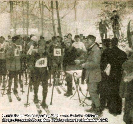 1. märkischer Wintersporttag 1924 - Am Start der Skiläufer