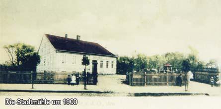 Die Stadtmühle um 1900