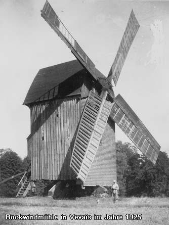 Bockwindmühle in Neubliesdorf im Jahre 1928/30 heute Grundstück Marquardt