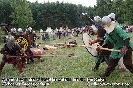 Bild 3 Alljährlich wird der Schlacht bei Zehden bei den Dni Cedyni (Zehdener Tagen) gedacht.