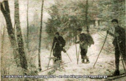 1. märkischer Wintersporttag 1924 - an den Hängen der Papenberge