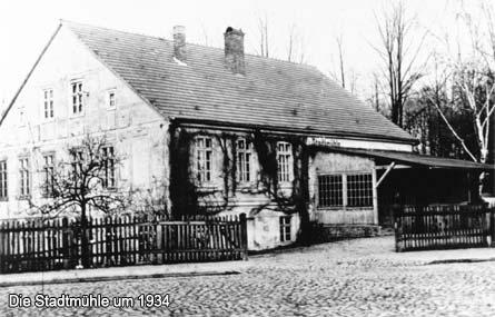 Die Stadtmühle um 1934