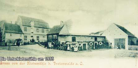 Die Unterkietzmühle um 1935