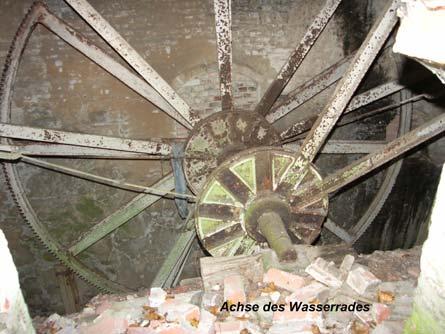 Achse des Wasserrades
