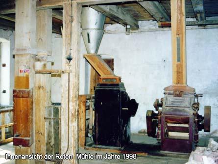 Innenansicht der Roten  Mühle im Jahre 1998